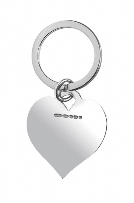 Sterling Silver Hallmarked Heart Shaped Keyring